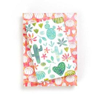 Wrappily(ラッピリー) エコ包装紙 サボテンの水彩画 2枚セット