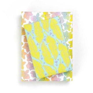 Wrappily(ラッピリー) エコ包装紙 トロピカルリーフ・虹色のラン 2枚セット