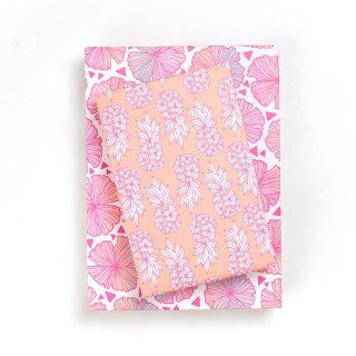 Wrappily(ラッピリー) エコ包装紙 パイナップルブラッシュ・海の花 2枚セット