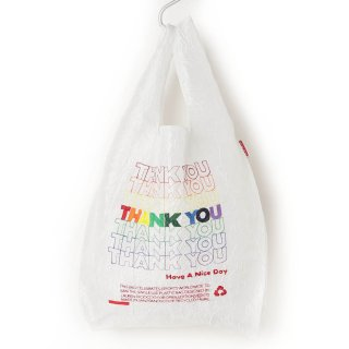 OPEN EDITIONS Regular Eco Bag-White THANK YOU