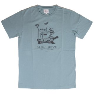 Slow Down SS Tee_Blue