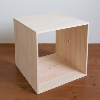 ひのきキューブボックス 無塗装 連結型