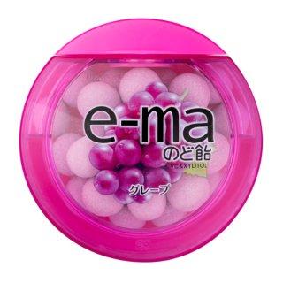 味覚糖 e−maのど飴容器グレープ 6入。