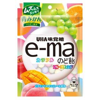 味覚糖 e-maのど飴袋 カラフルフルーツチェンジ 50g×6入。