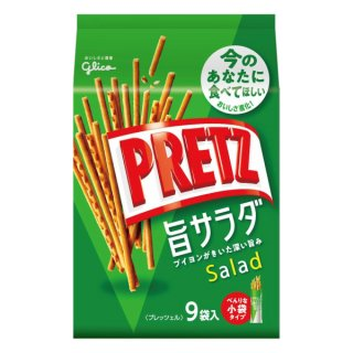江崎グリコ 9袋 プリッツ 旨サラダ 6入。