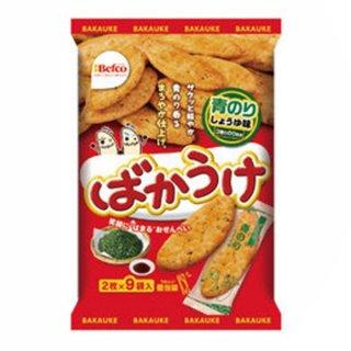 栗山米菓 18枚 ばかうけ 青のりしょうゆ味 12入 。