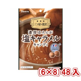 (本州一部送料無料) カンロ 濃厚ほろにが塩キャラメルキャンディ (6×8)48入 (Y12)(ケース販売)。