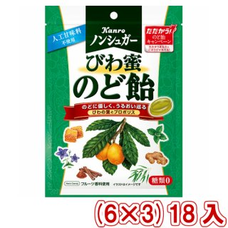 (本州一部送料無料)カンロ ノンシュガーびわ蜜のど飴 (6×10)60入 (ケース販売)(Y10)。