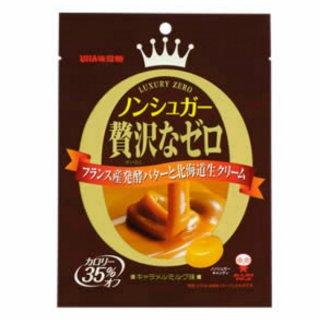 味覚糖 ノンシュガー贅沢なゼロ キャラメルミルク味 6入。