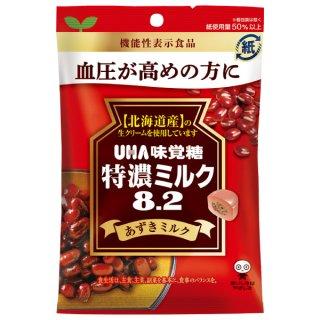 味覚糖 特濃ミルク8.2 あずきミルク6入 機能性表示食品。