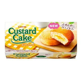 ロッテ カスタードケーキ 5入。