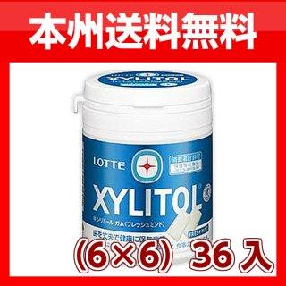 (本州一部送料無料)ロッテ キシリトールガム フレッシュミントボトル(6×6)36入。