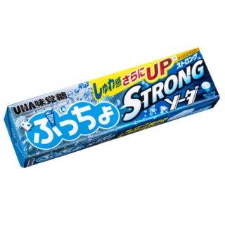 味覚糖 ぷっちょスティック ストロングソーダ 10入 。
