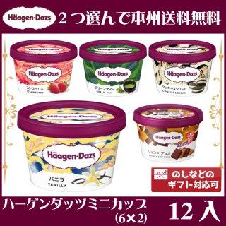 (2つ選んで、本州一部冷凍送料無料)ハーゲンダッツ ミニカップ (6×2)12入(冷凍)