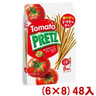 (本州一部送料無料)江崎グリコ 9袋 プリッツ 熟トマト (6×8)48入 (Y14)。