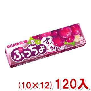 (本州一部送料無料) 味覚糖 ぷっちょスティック 贅沢ぶどう (10×12)120入 (Y80)。