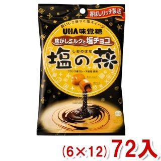 (本州一部送料無料) 味覚糖 塩の花 焦がしミルクと塩チョコ (6×12)72入 (Y12) 。