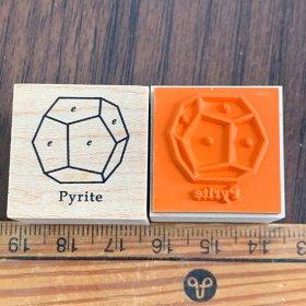 ゴムスタンプ/黄鉄鉱結晶図