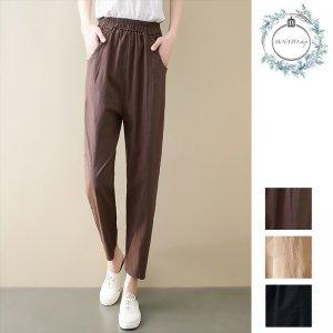パンツ レディース ズボン 夏 パンツ 体型カバー パンツ 韓国 パンツ リネン ボトムス ウエストゴム ゆったり