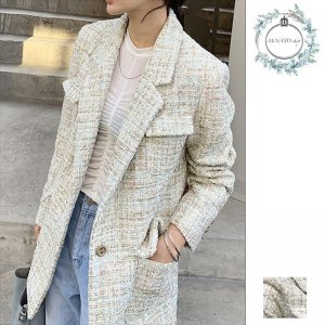 レディース アウター 秋 冬 ジャケット ツイードジャケット コート 上品 オフィス フォーマル おしゃれ 20代 30代 40代