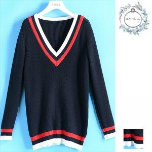 トップス 秋 冬 セーター ニット Vネック セーター ゆったり カジュアル レディースファッション 20代 30代 40代