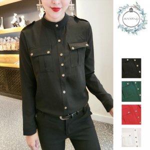 レディース トップス 秋 冬 シャツ 大きいサイズ カラーシャツ シンプル カジュアル レディースファッション 20代 30代 40代
