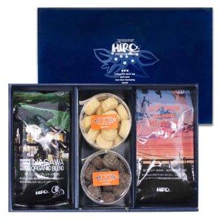 【秋ギフト】選べるクッキー2種類と秋ブレンド「みのり」・オーガニックブレンドいながわセット(送料無料)
