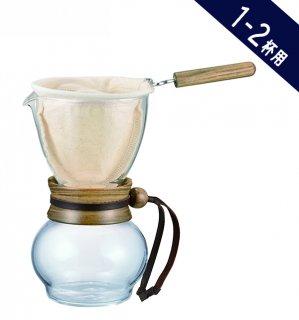 【コーヒー器具】ハリオ ドリップポット・ウッドネック 1-2杯用