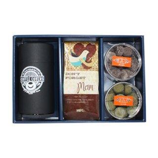 【母の日限定】マザーズブレンドと選べるクッキー2種類・ヒロオリジナルコーヒーキャニスターセット(送料無料)