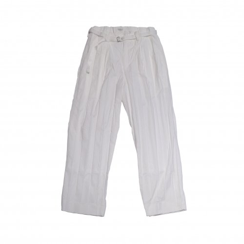 Y.O.N. / PLEATED TROUSERS (WHITE)