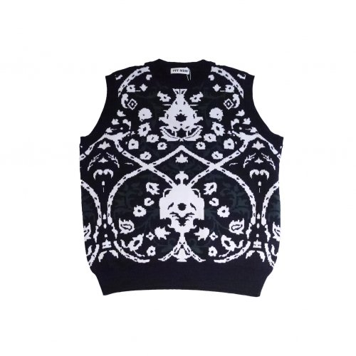 <img class='new_mark_img1' src='https://img.shop-pro.jp/img/new/icons11.gif' style='border:none;display:inline;margin:0px;padding:0px;width:auto;' />TTT MSW / Persia knit vest (black)