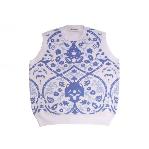 <img class='new_mark_img1' src='https://img.shop-pro.jp/img/new/icons11.gif' style='border:none;display:inline;margin:0px;padding:0px;width:auto;' />TTT MSW / Persia knit vest (white)