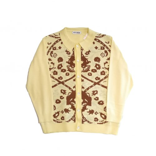 <img class='new_mark_img1' src='https://img.shop-pro.jp/img/new/icons11.gif' style='border:none;display:inline;margin:0px;padding:0px;width:auto;' />TTT MSW / Persia knit polo shirt (yellow)