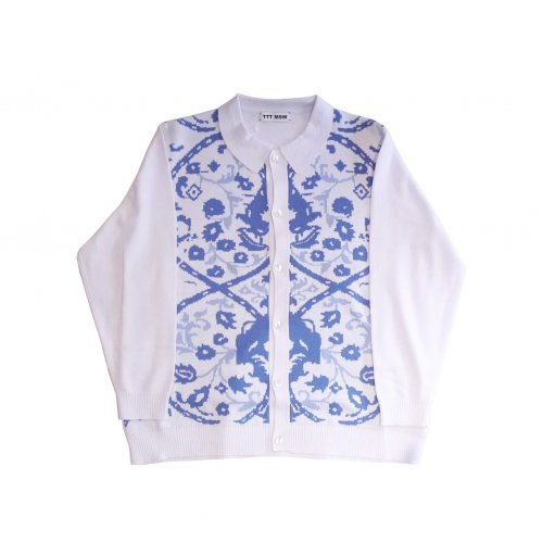 <img class='new_mark_img1' src='https://img.shop-pro.jp/img/new/icons11.gif' style='border:none;display:inline;margin:0px;padding:0px;width:auto;' />TTT MSW / Persia knit polo shirt (white)