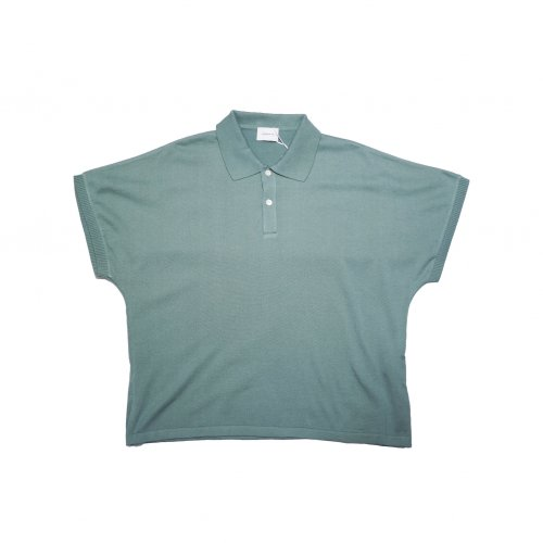 <img class='new_mark_img1' src='https://img.shop-pro.jp/img/new/icons11.gif' style='border:none;display:inline;margin:0px;padding:0px;width:auto;' />superNova. / Dolman knit polo / Green