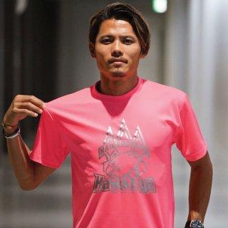ホークアイ ドッカンロゴ Tシャツ ピンク×シルバー