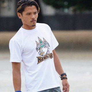 【かけっこ教室用】ホークアイ ドッカンロゴ Tシャツ ホワイト×オリジナルロゴ