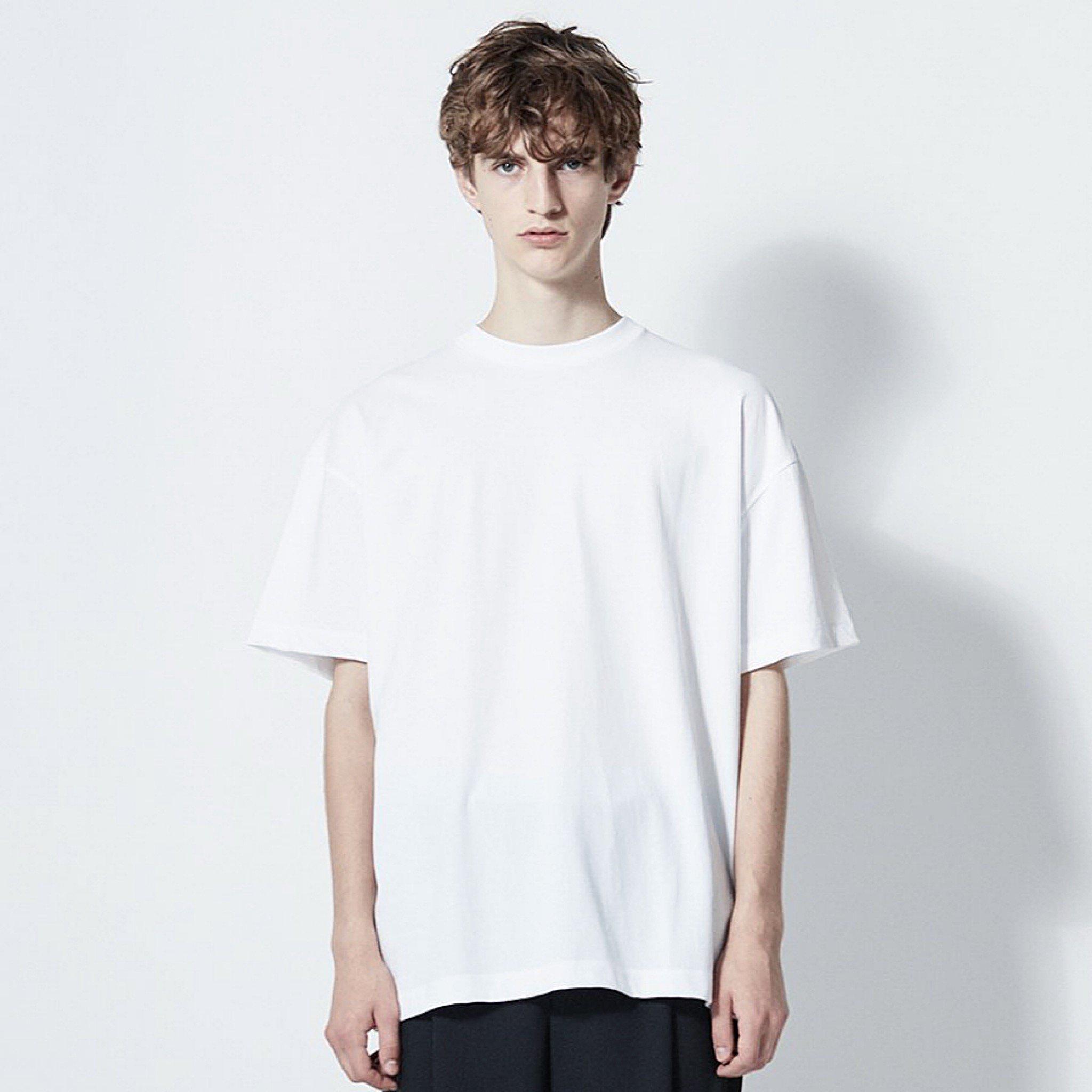 【ATON】<br> フレスカ プレート オーバーサイズ <br>Tシャツ