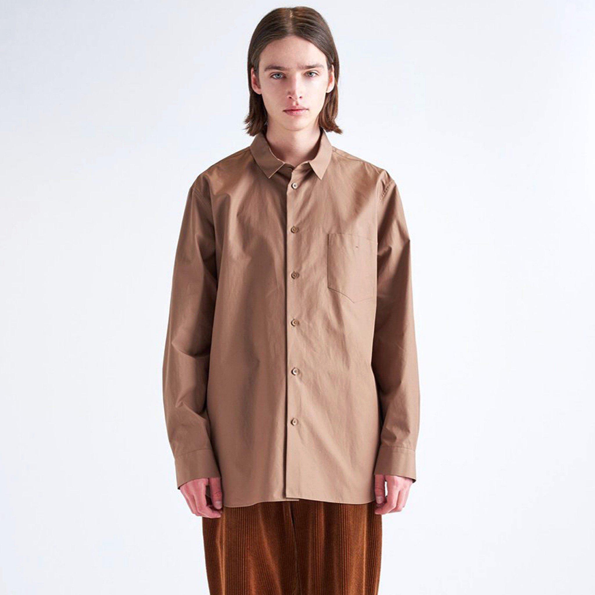 【ATON】 <br> オーバーサイズドシャツ ギザブロード