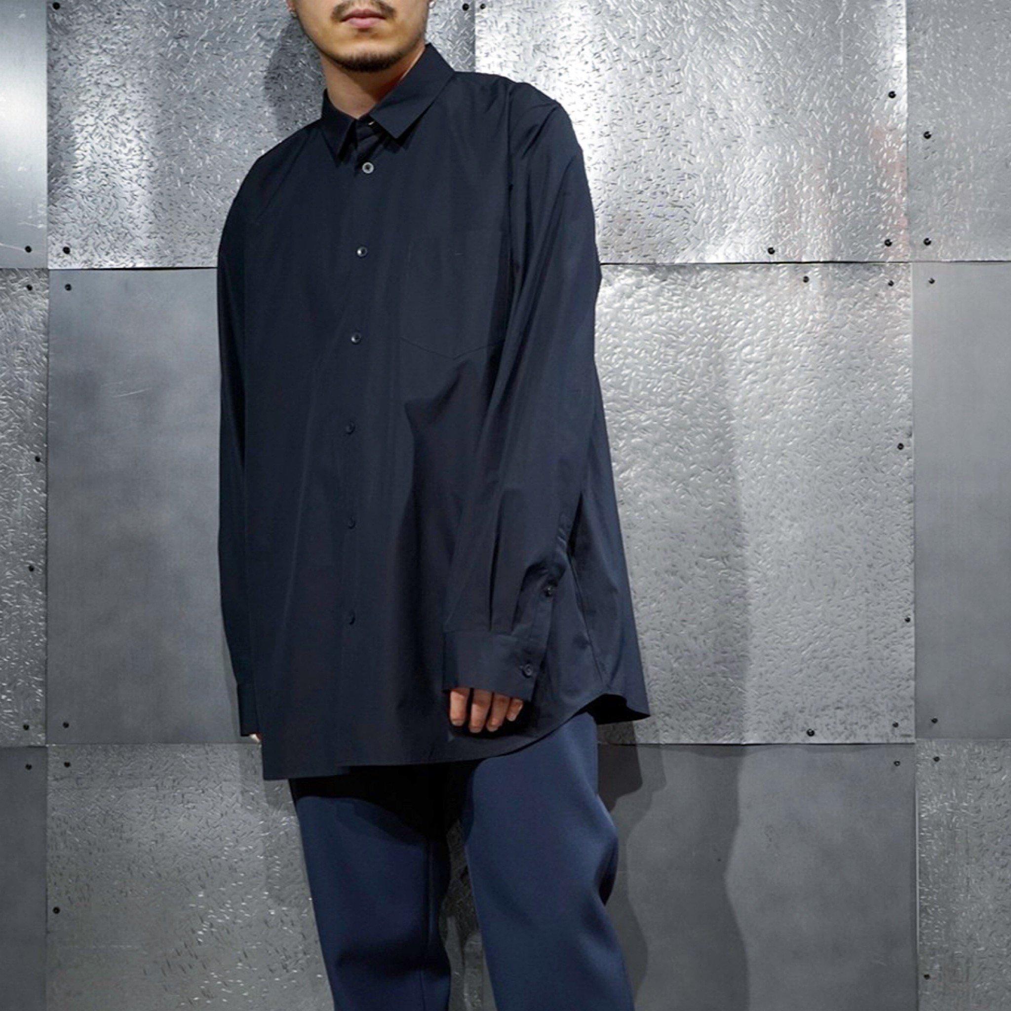 【ATON】<BR>オーバーサイズシャツ ギザブロードクロス