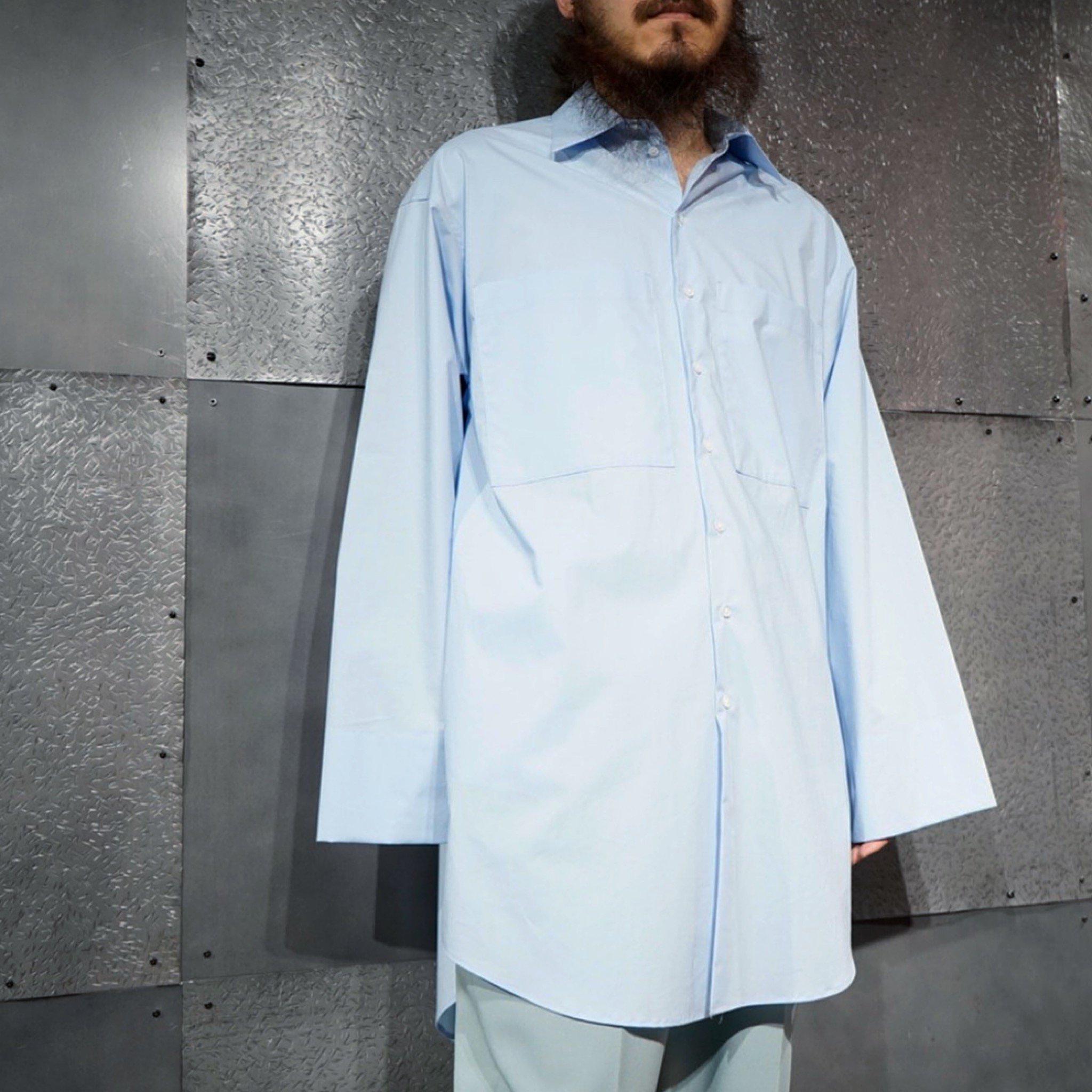 ATHA-<br>スビンコットン ロングシャツ