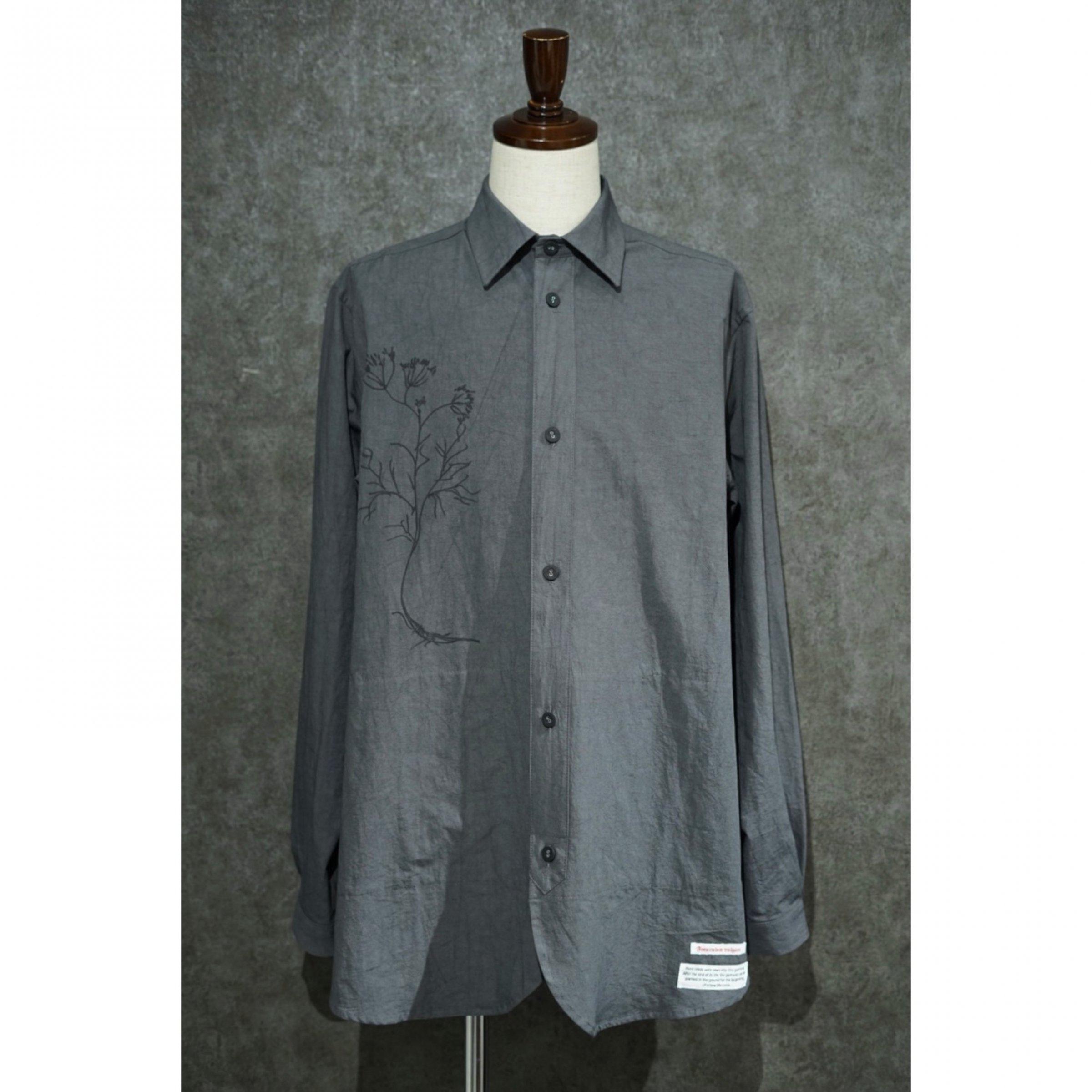 【FRANK LEDER】<br>コットン/リネン サイドポケットシャツ<br>withハンドドローイング