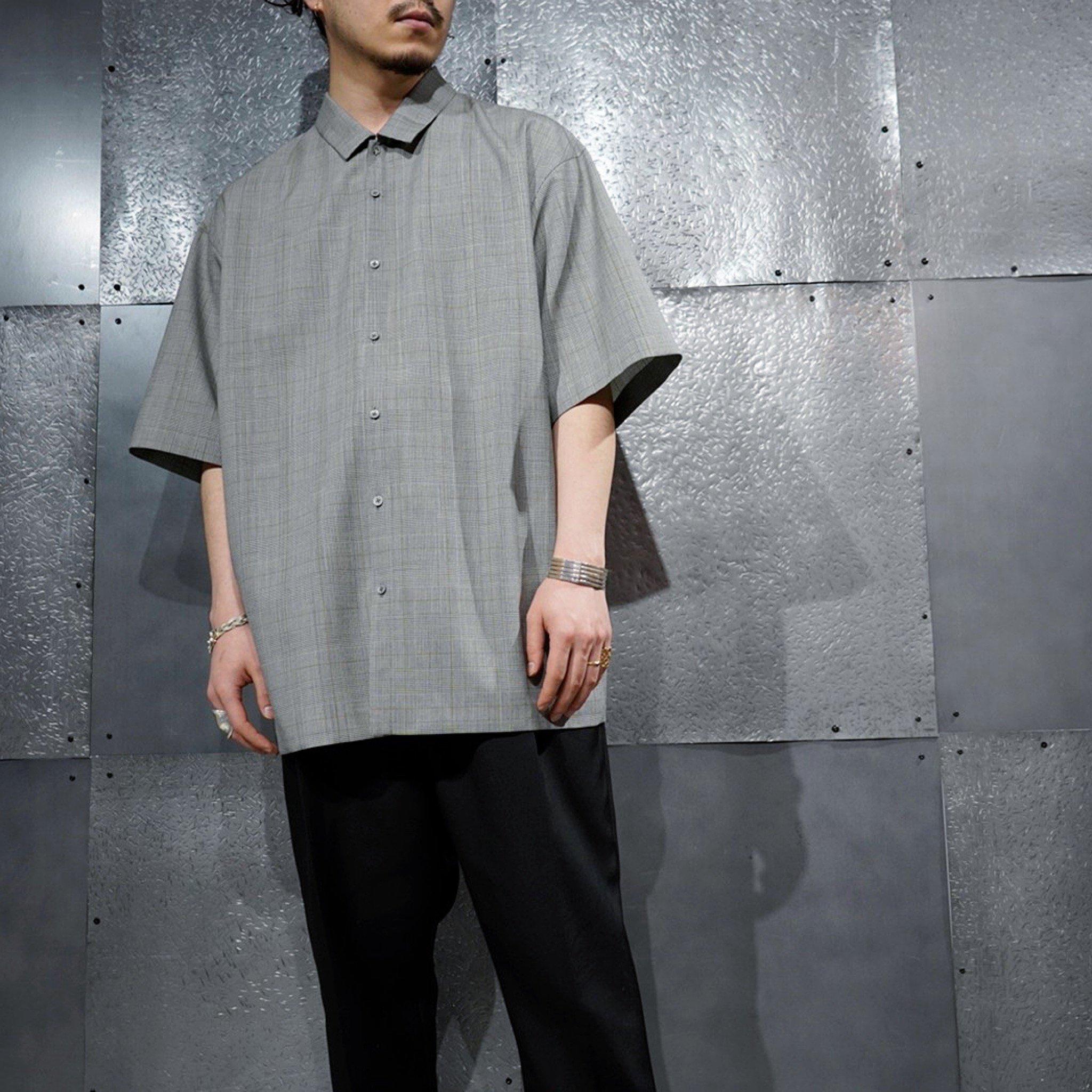 【ATON】<br>トロピカルウールオーバーサイズシャツ