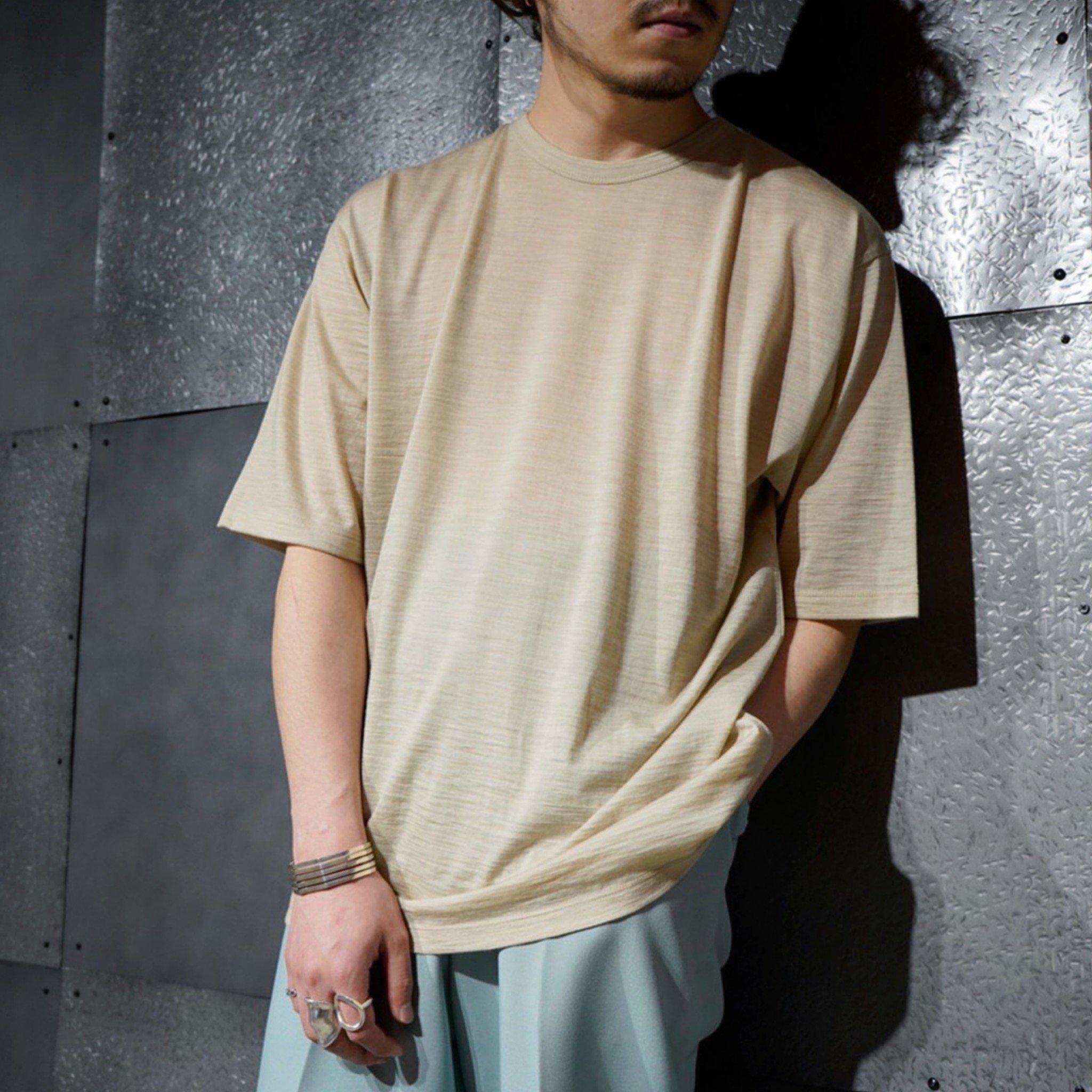 BATONER<br>ウォッシャブルウール TEEシャツ