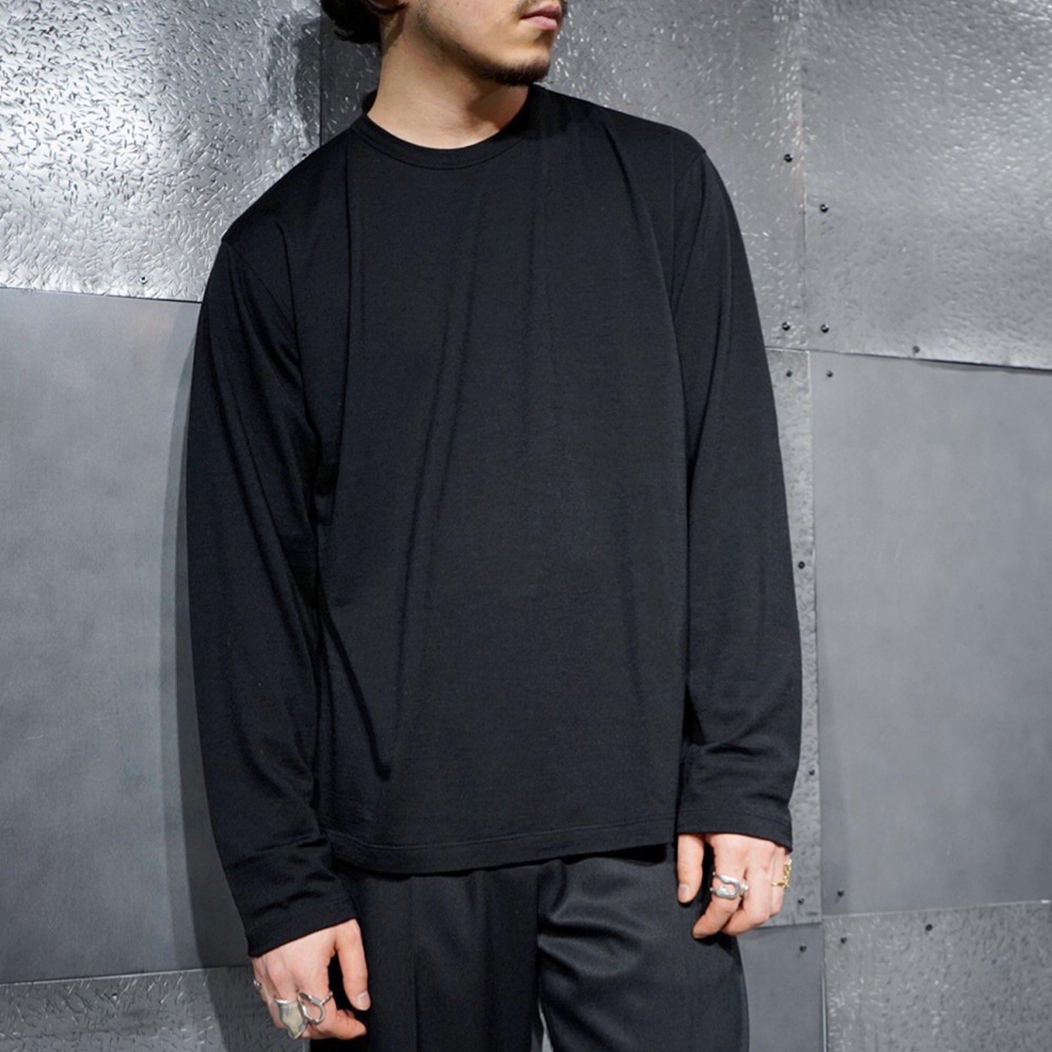 BATONER<br>ウォッシャブルウール ロングスリーブTEEシャツ