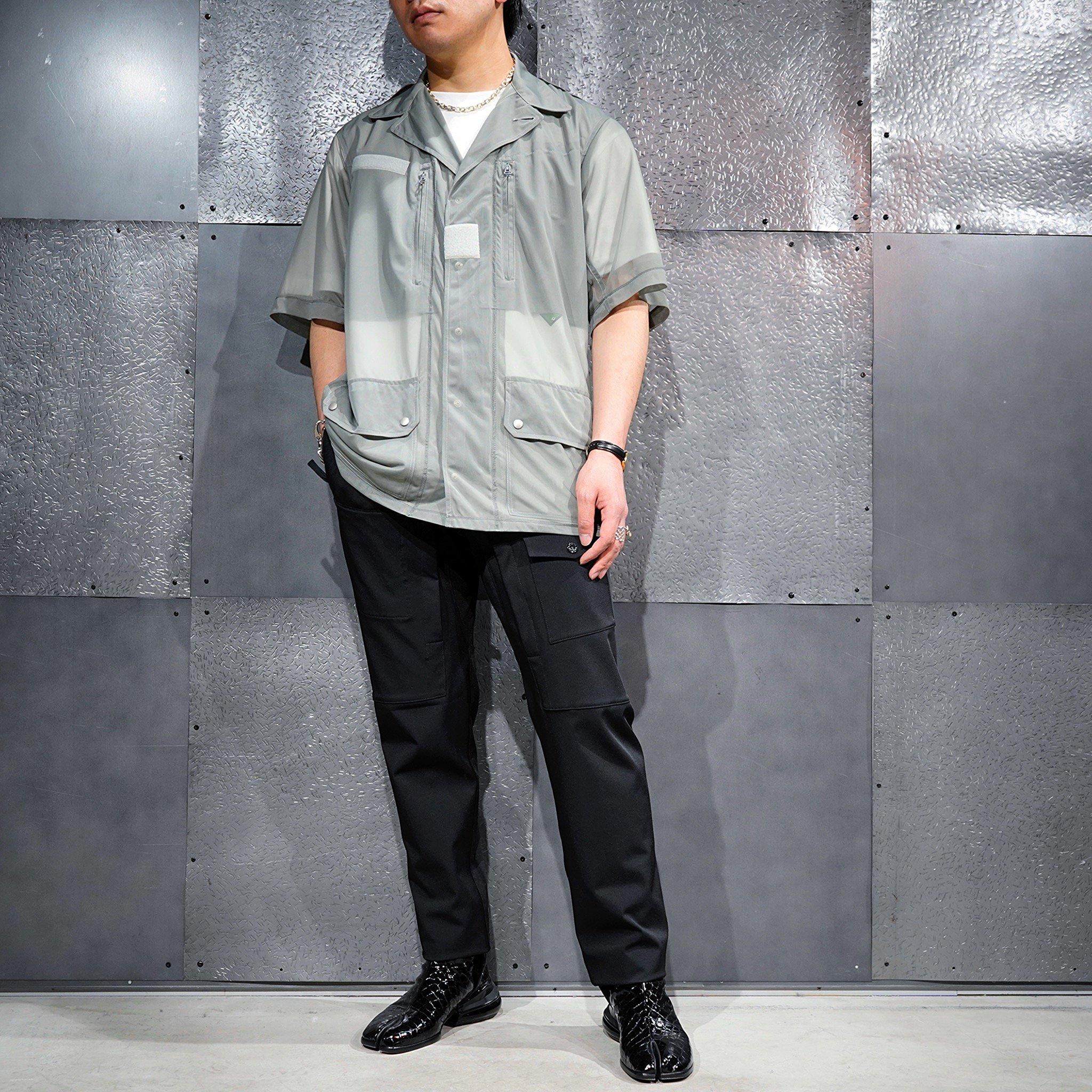 【08sircus】<br>ハイゲージ チュールアーミーシャツブルゾン