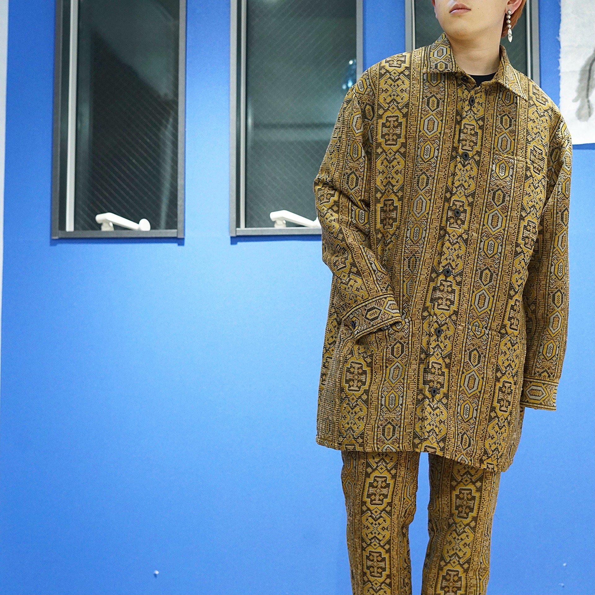 【QASIMI】<br>エスニックジャカード <br>オーバーサイズ シャツジャケット