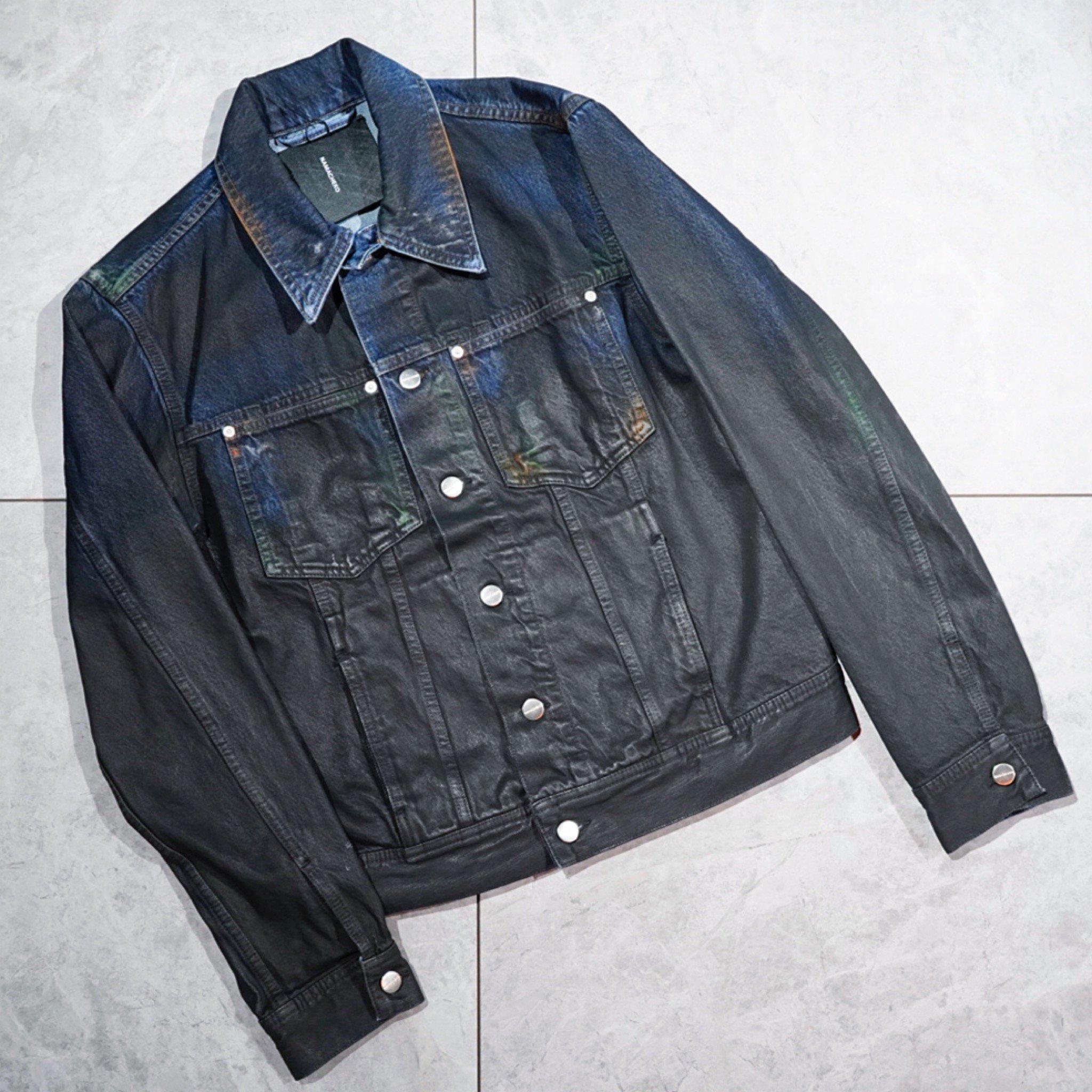 【NAMACHEKO】<br>ワックスペイント デニムジャケット