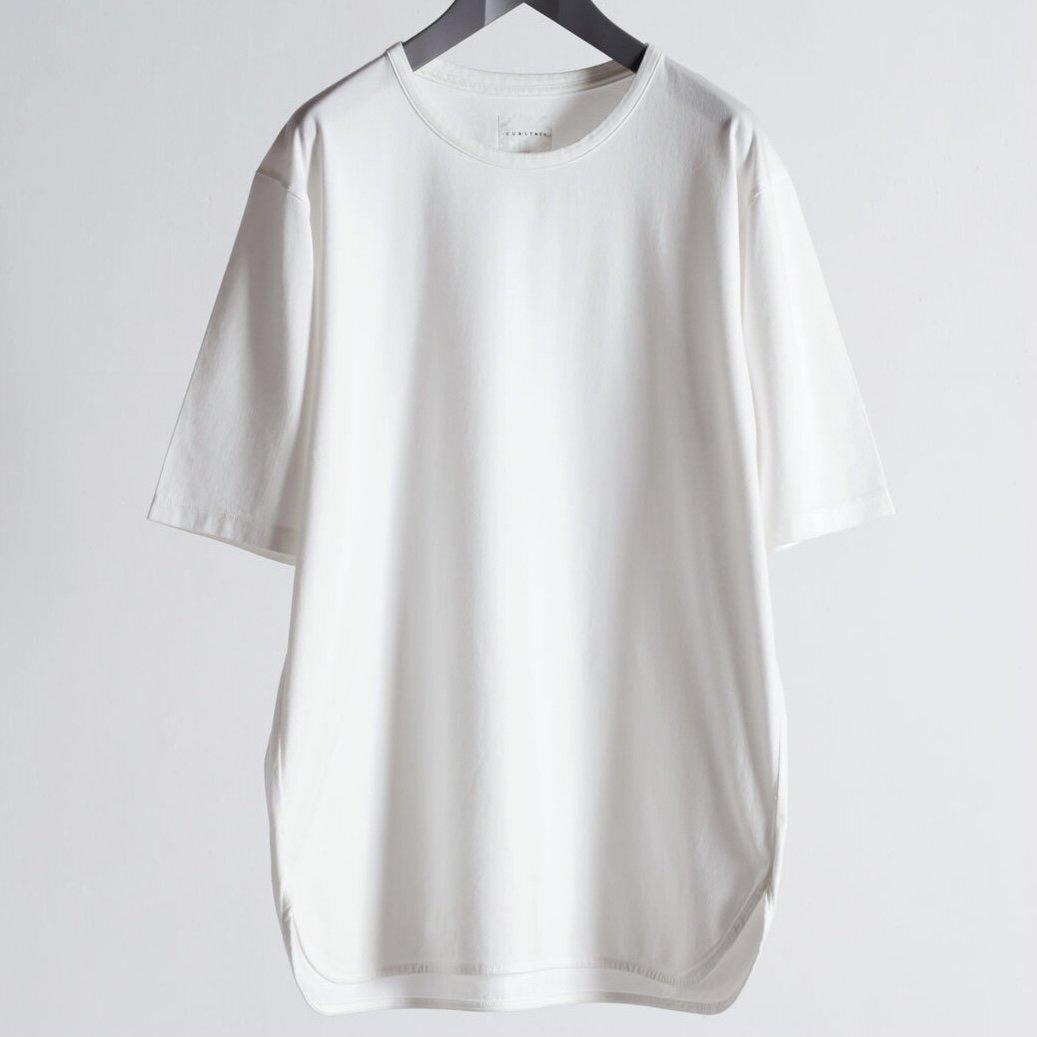 【CURLY】<br>スビン/DCH ハイゲージ天竺<br>クルーネックショートスリーブTシャツ