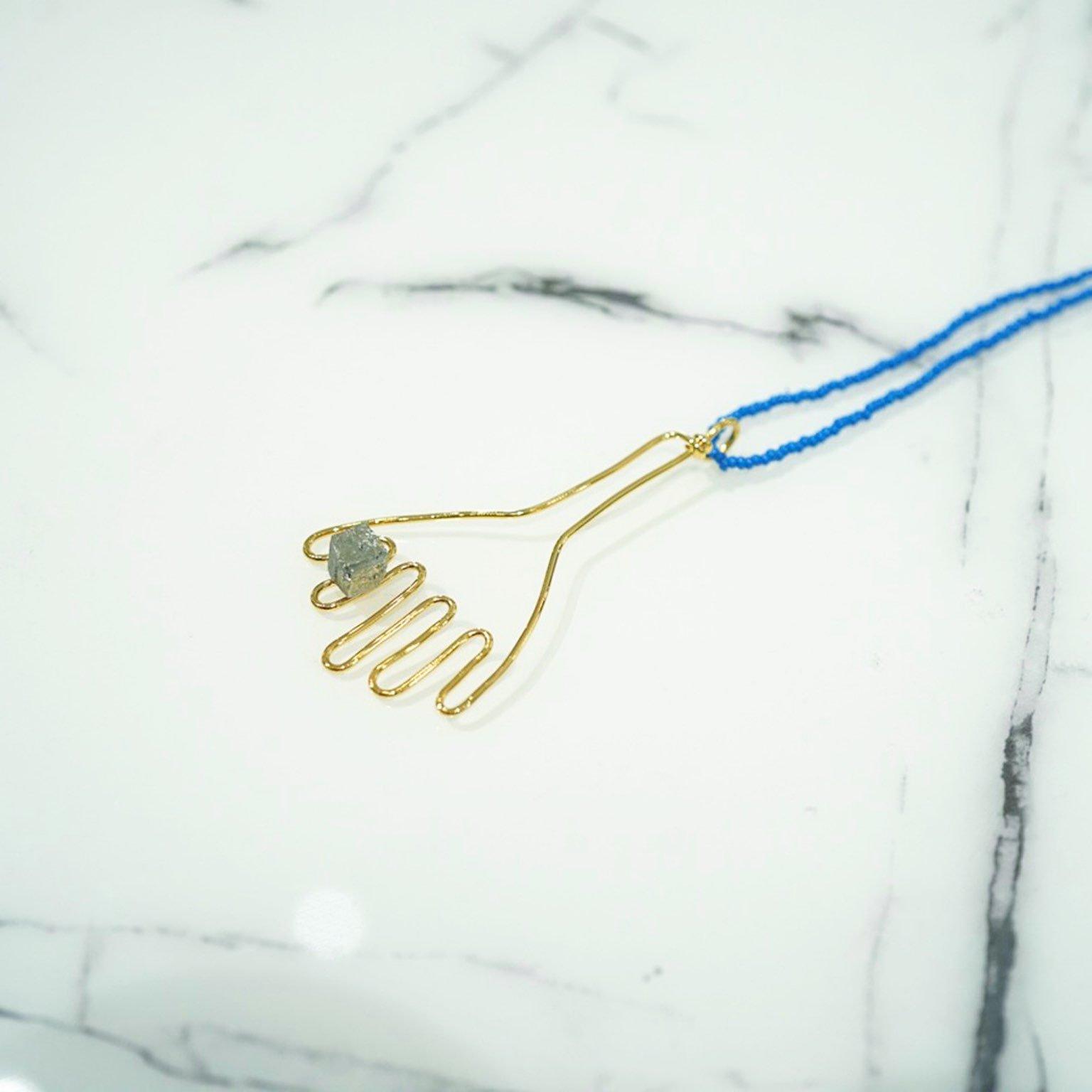 【MARNI】ハンドモチーフネックレス<br>withセミプレシャスストーン
